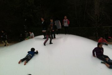 Outdoor bouncy hill