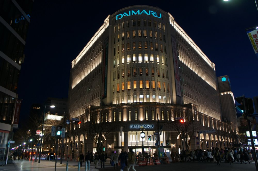 Major retailer, Daimaru in Motomachi, is the most frequented place, along with Marui which is slightly further away close to Sannomiya station.