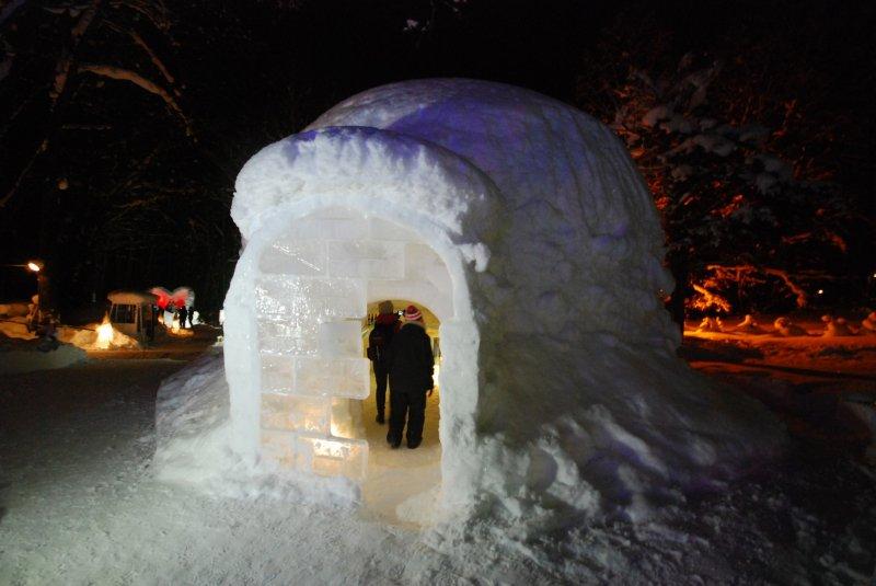 <p>Snow Cafe ที่ทำเลียนแบบอิกลู บ้านของชาวเอสกิโม</p>