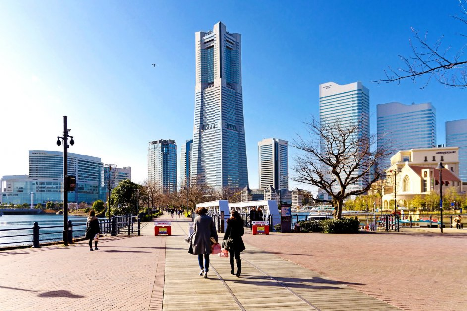 View from Kishamichi Promenade