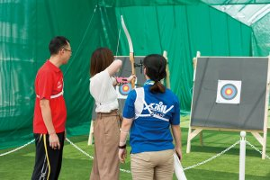 Enjoy a relaxing round of archery.