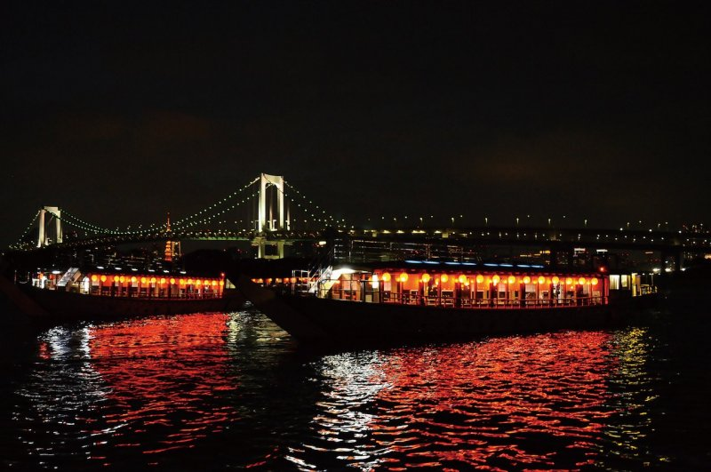 Passing under the Rainbow Bridge is a highlight of the houseboat cruise.