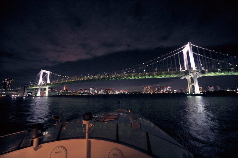 The Night Cruise departing at 21:30 is the latest cruise offered for Tokyo Bay.