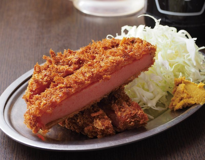 Ham Cutlet costs ¥310 for a large portion.