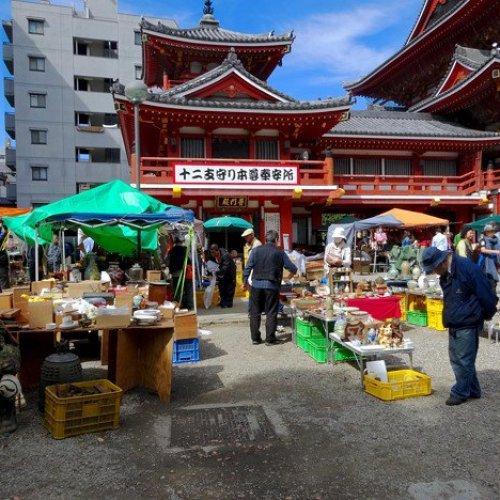 Osu Kannon Temple Market